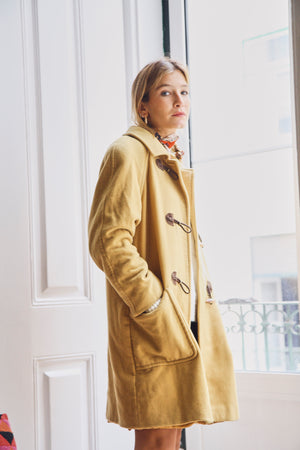 Yellow Wool Paddington Coat