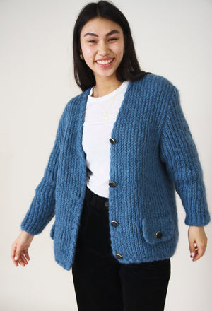 Wool Duckegg Knit Cardigan