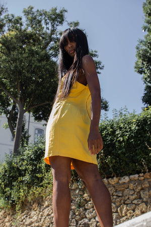 Vintage sunflower Yellow Shift Dress