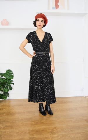 Milla Dash Maxi Dress Black