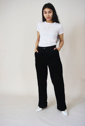 Paco Black Corduroy Trousers