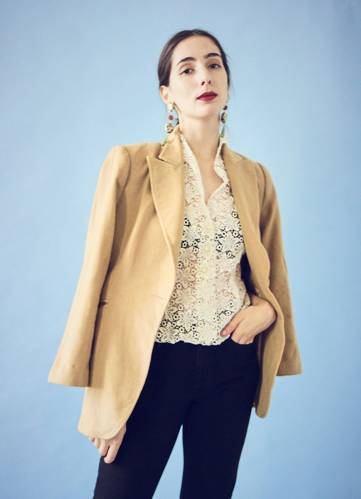 Vintage Wool and Cashmere Mix Blazer