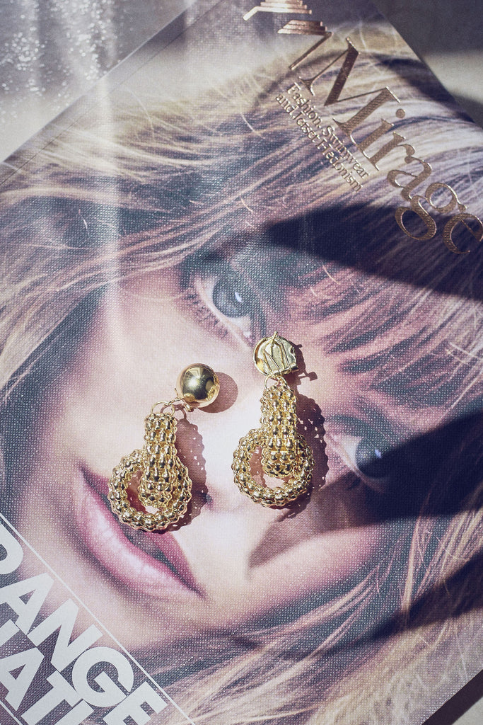 Gold Chain-Mail Earrings