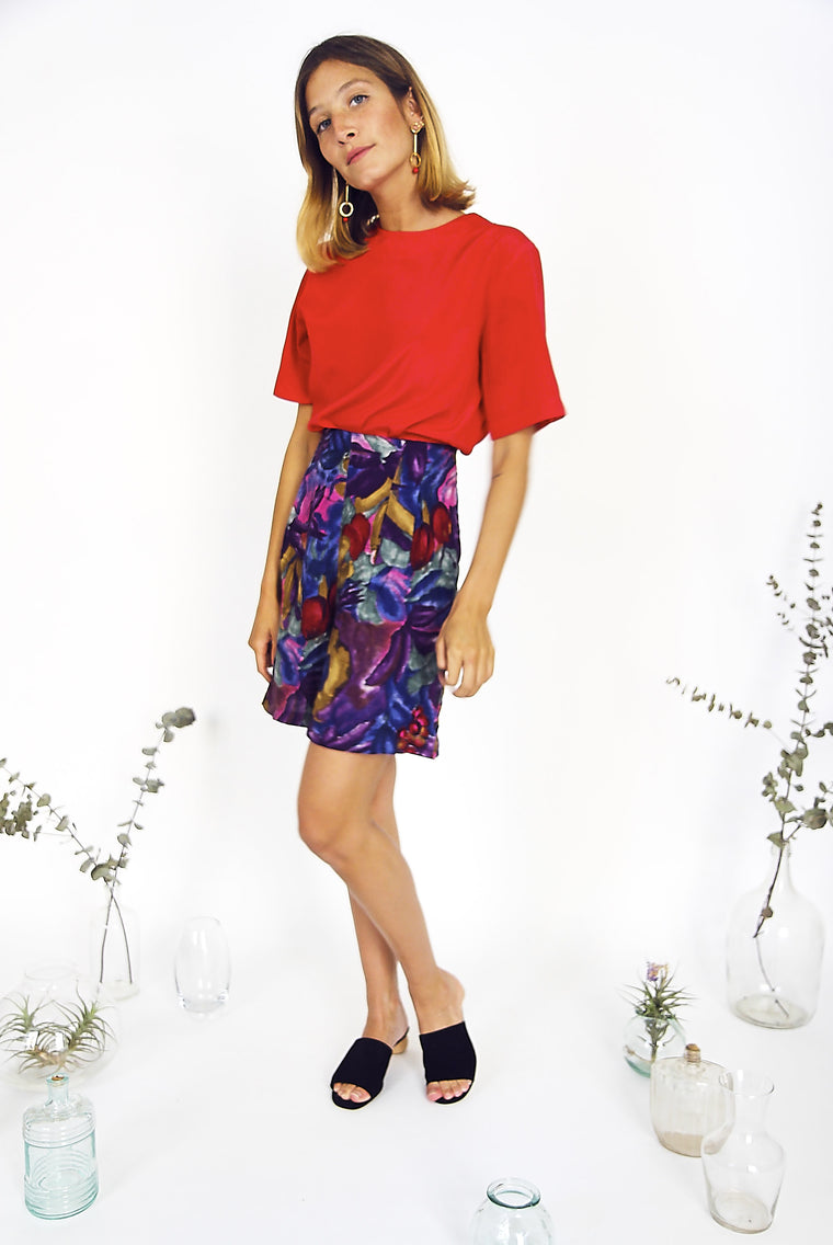 Vintage Colourful Loose Fit Culottes