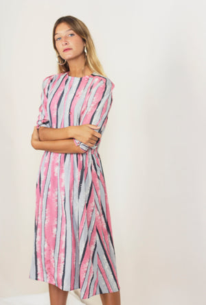 Candy Striped 80s Dress