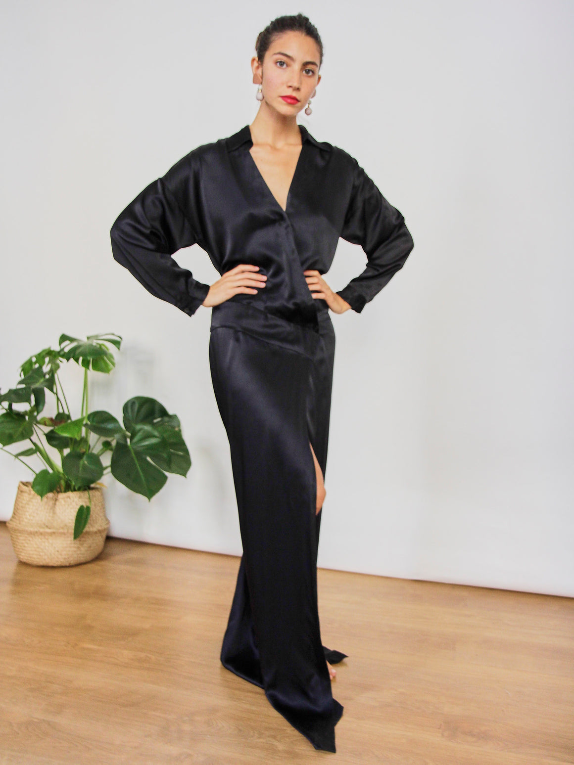 Black Silk Occassion Dress