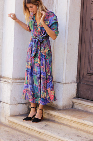 Stunning Abstract Printed Dress