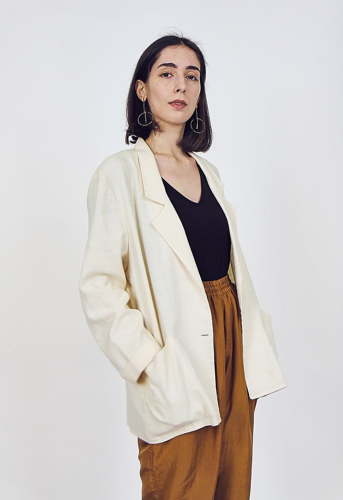 80's Vintage Cotton Light Weight Blazer