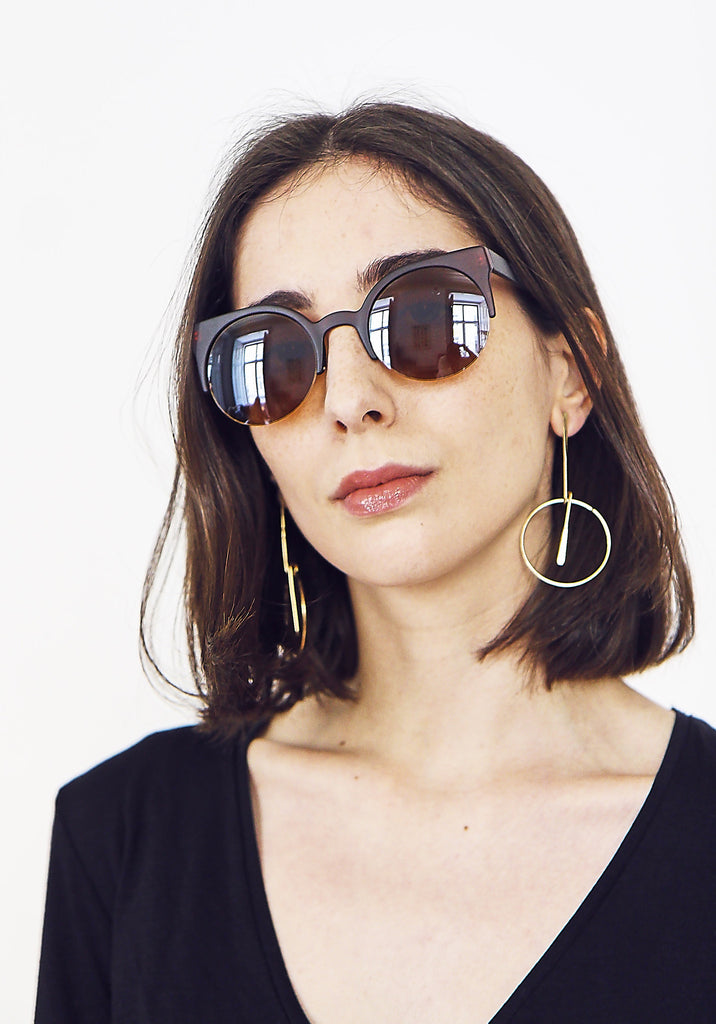 Toffee Moon Browed Sunglasses
