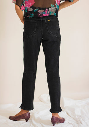 90s Black Raw Edge Lee Jeans