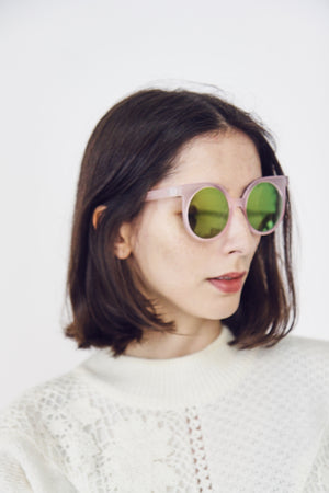 90s Style Frosted Reflective Sunglasses