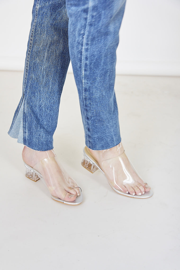 Perspex Transparent Mules