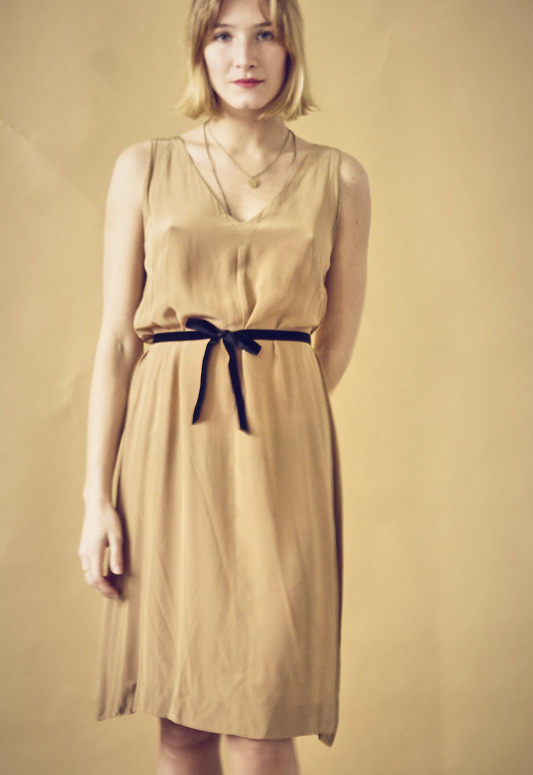 60s Caramel Slip Dress