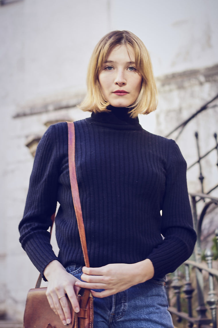 Vintage Ribbed Rollneck Knit