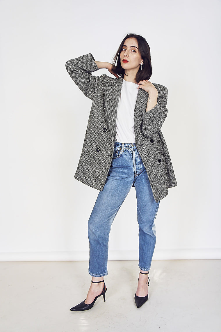 90s Herringbone Wool Pendelton Jacket