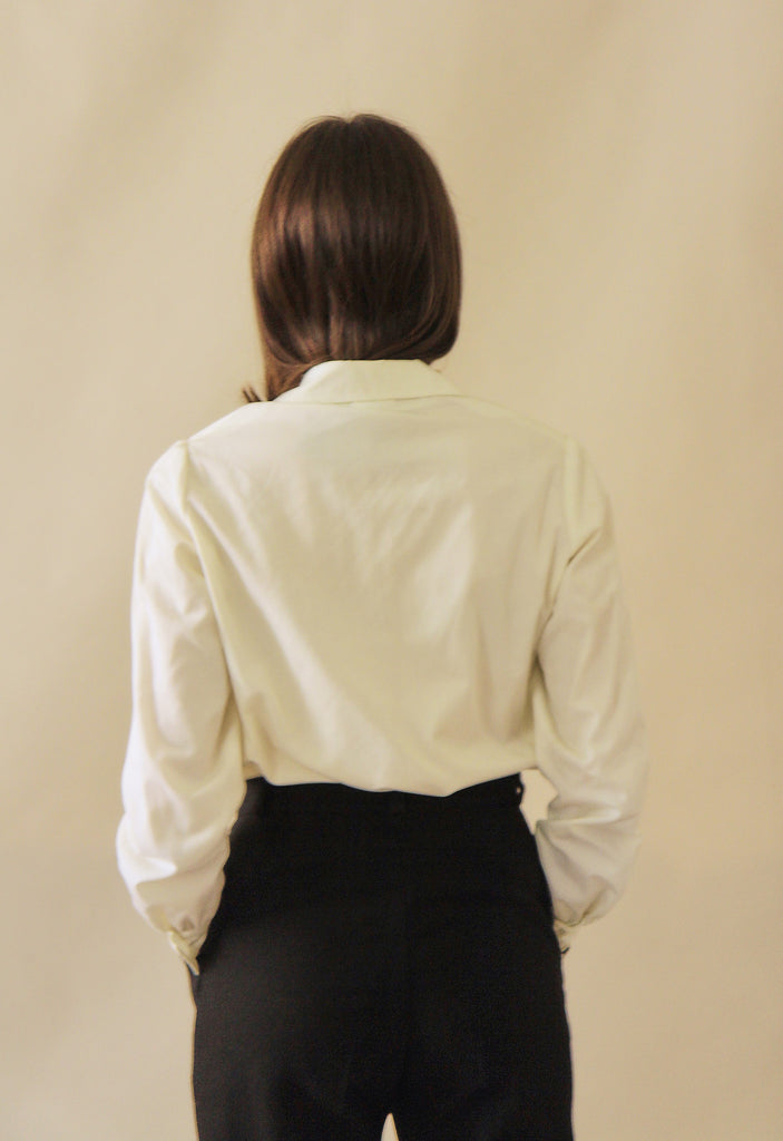 Vintage White Cotton Shirt