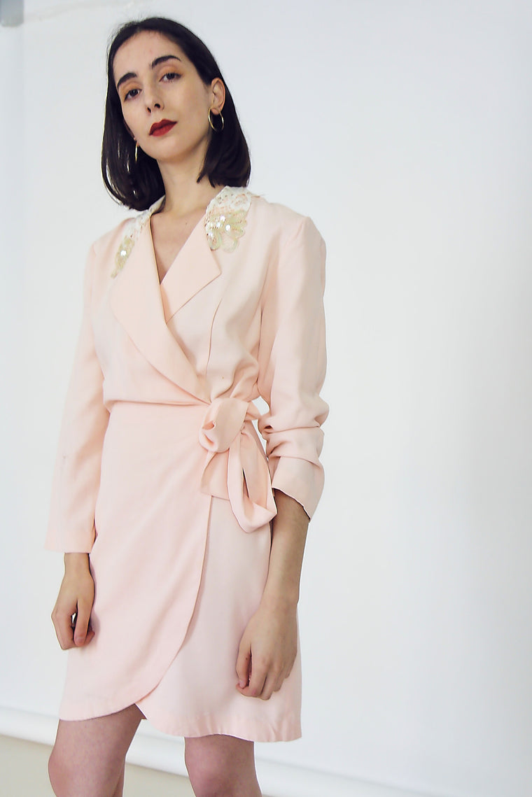Vintage 90s Pretty Pastel Wrap Dress