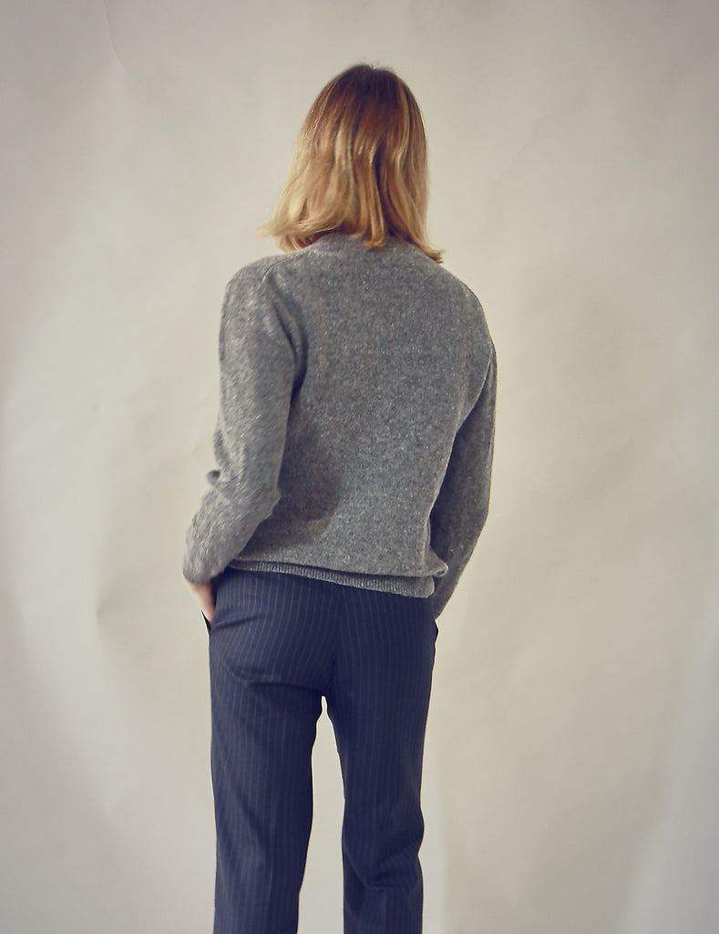 90s Vintage Grey Lambswool Jumper