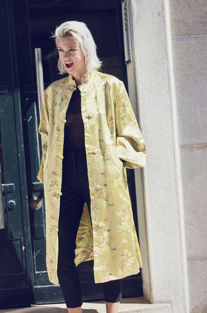 Vintage Embroidered Chinese Duster Jacket