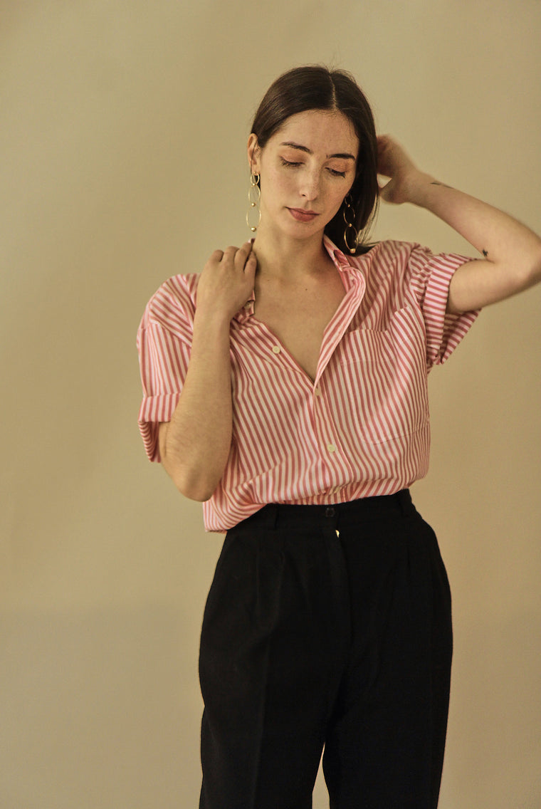 90s Boyfriend Striped Shirt