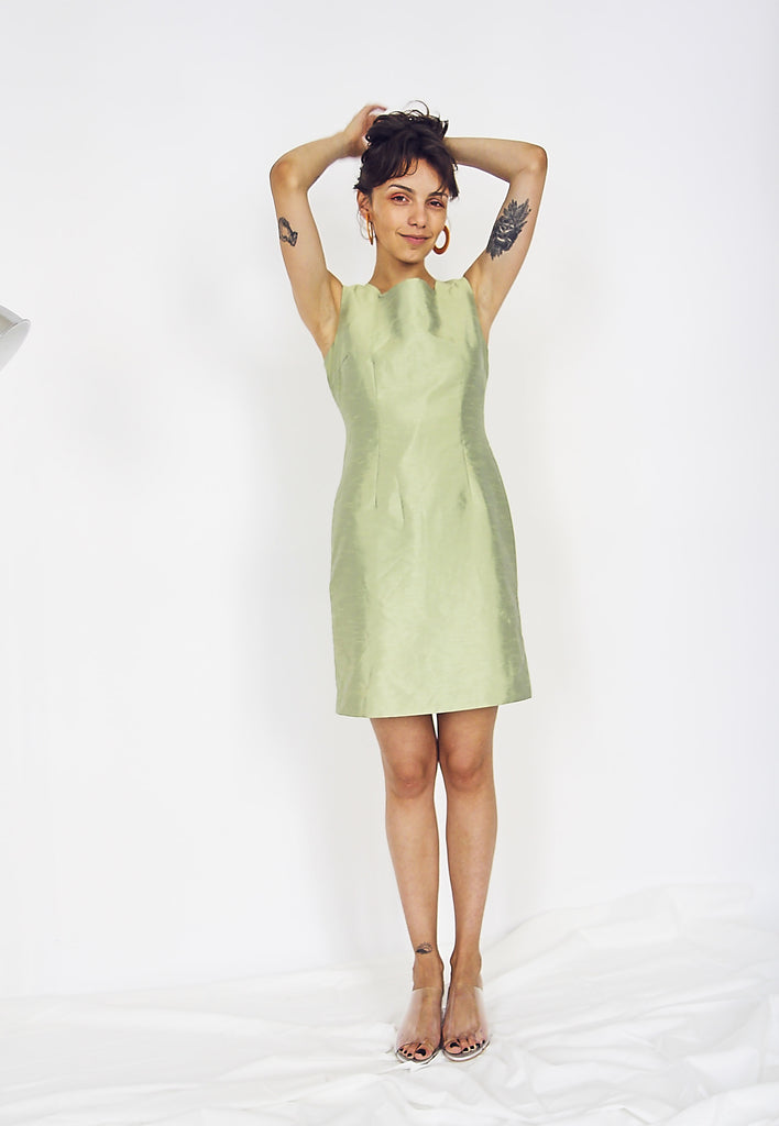 90s Lime Shift Dress.