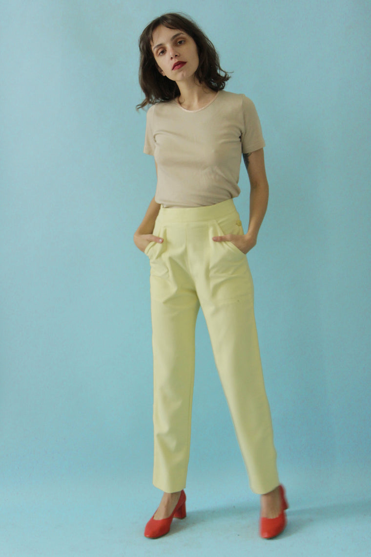 80s  High Waisted Tapered Trousers