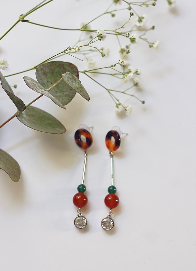 Tortoiseshell  Pendant Earrings