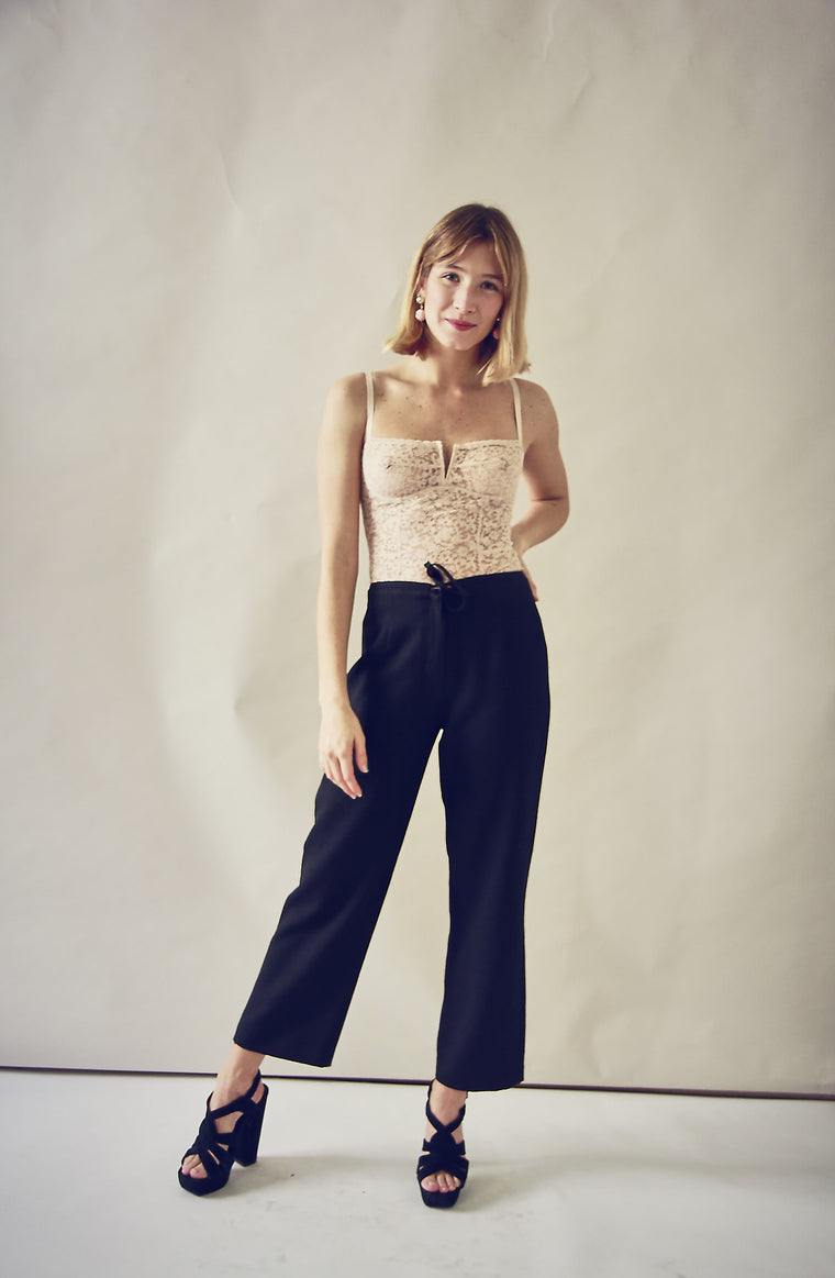 90s Black Straight Leg Trousers