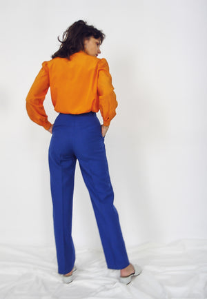70s Colbolt Tapered Wool Trousers