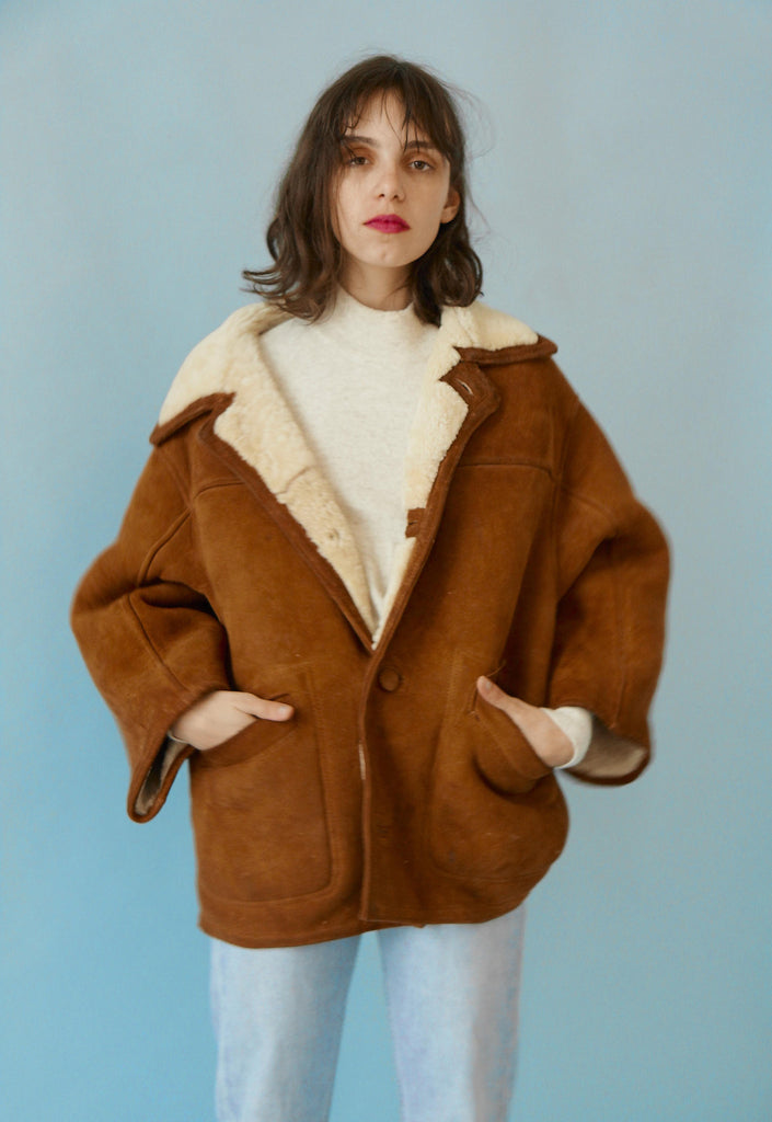 Gorgeous Vintage Toffee Sheepskin Coat
