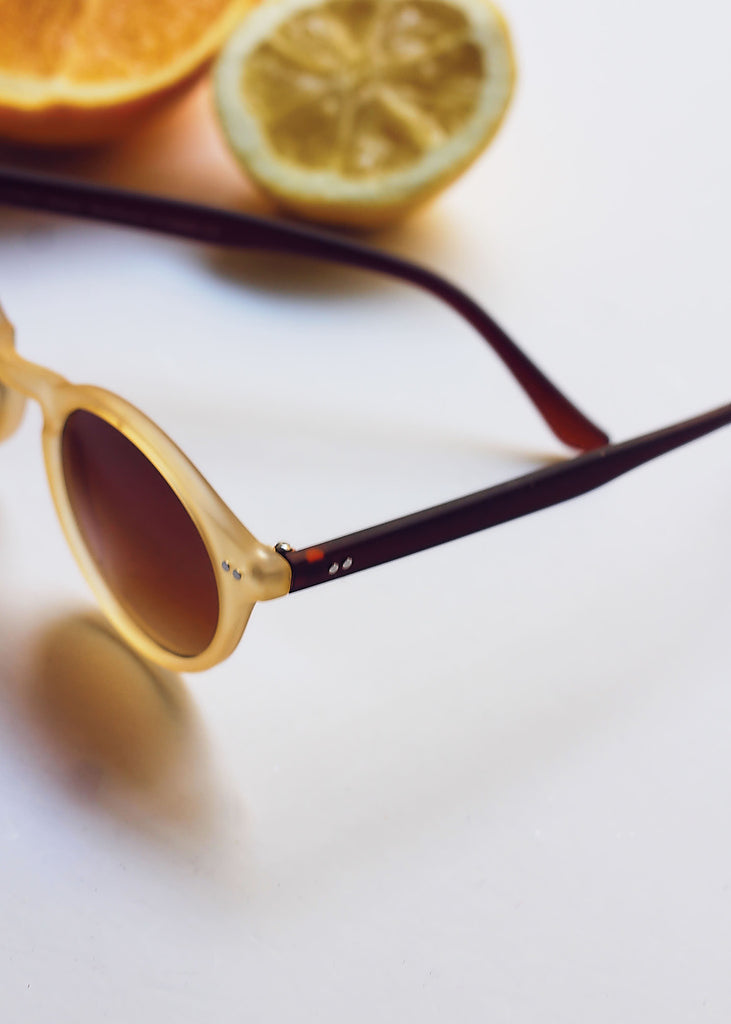 Mustard Two Tone Key-Hole Sunglasses