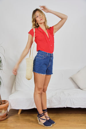 True Blue Vintage Denim Shorts