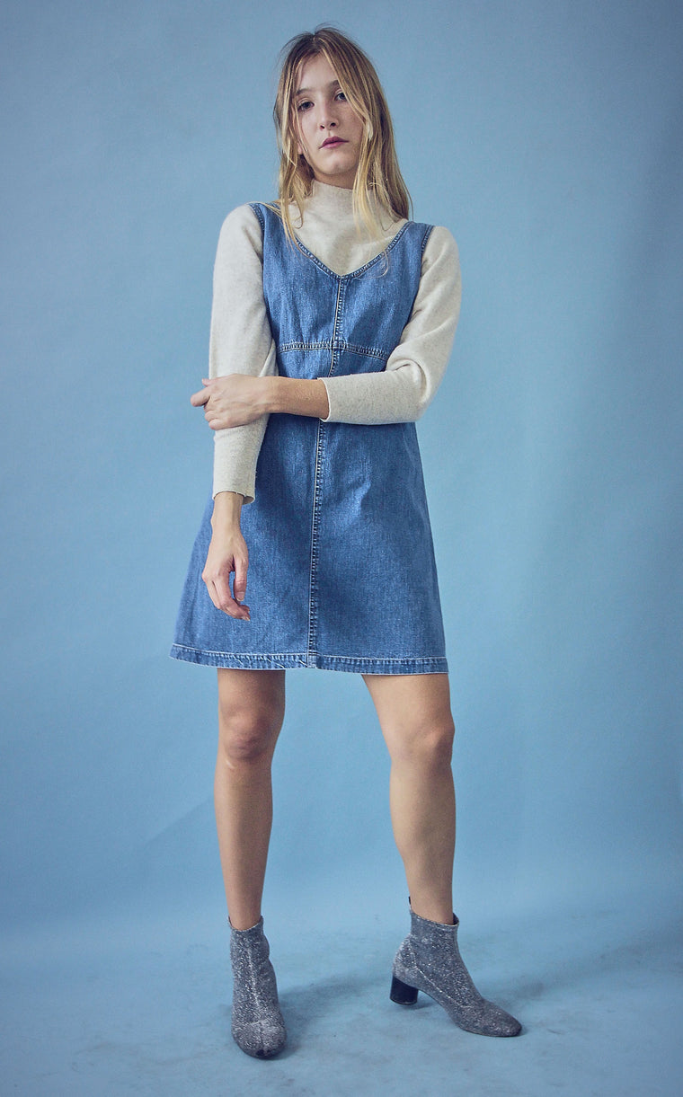 90s Denim Pinafore Dress