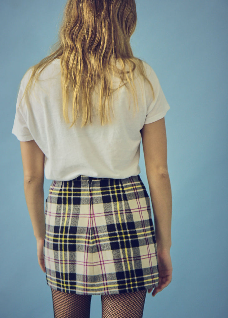 Vintage 90s Checked Tartan Skirt
