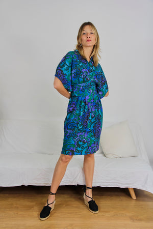 Silk Printed Shirt Dress