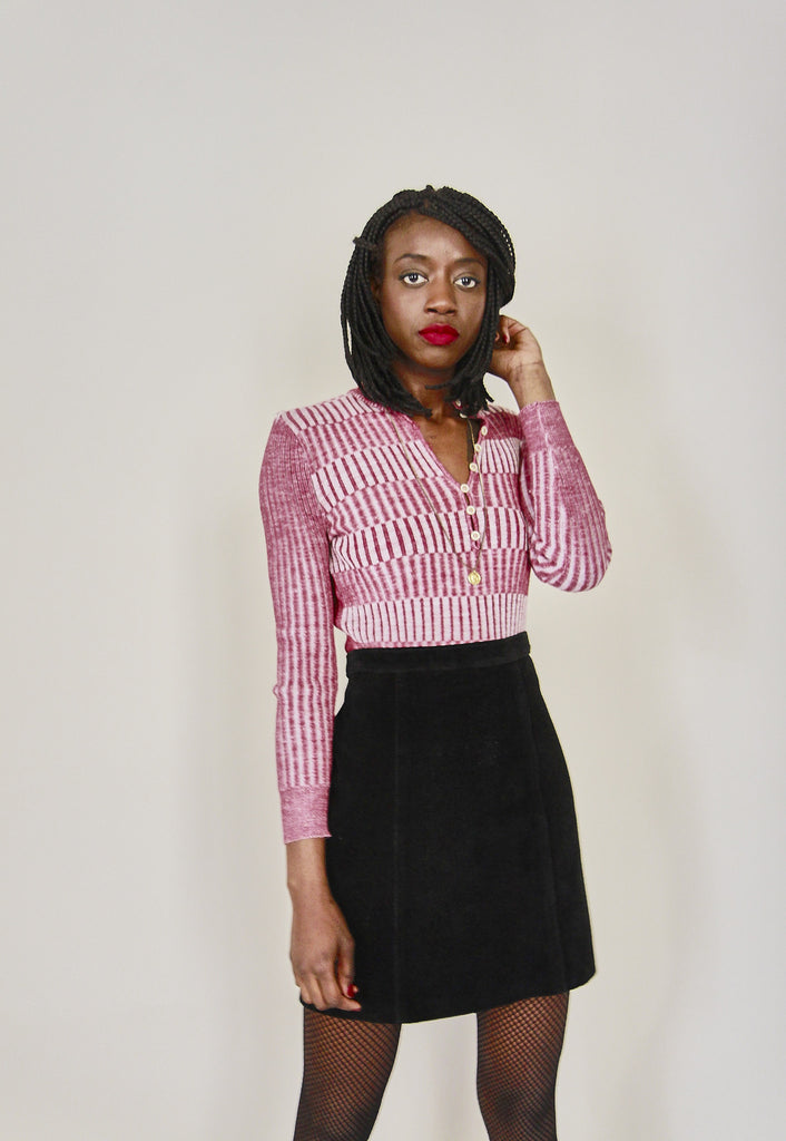 Vintage Suede Pencil Skirt