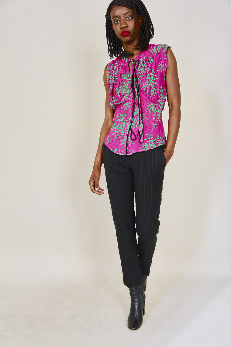 Paul Smith Floral Print Chiffon Blouse