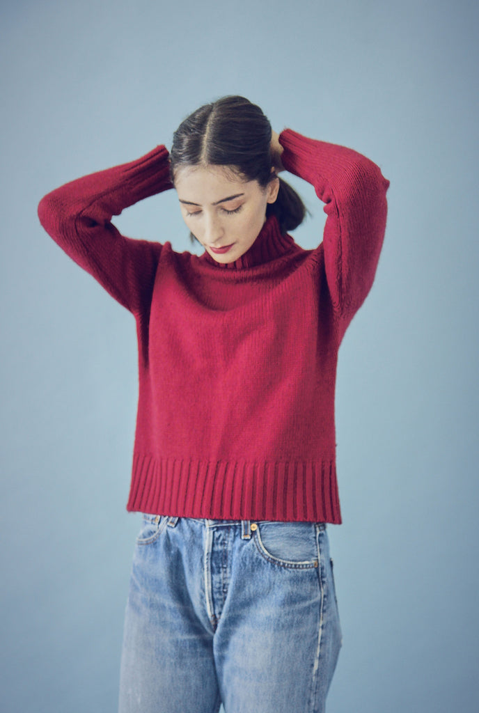 Vintage 90s Red RibbedTurtle Neck
