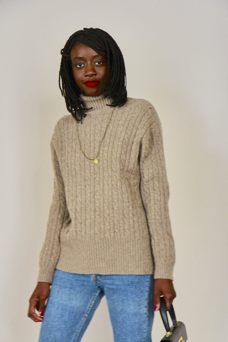 90s Oatmeal Wool Jumper