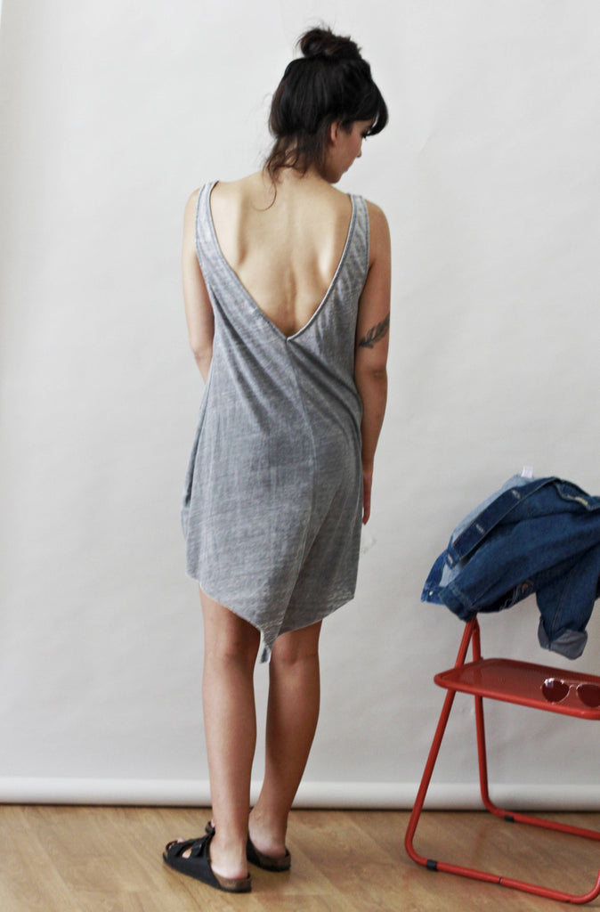 90's Vintage Grey Marl Slip Dress.
