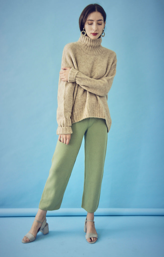 70s Wool Mix High Waisted Trousers