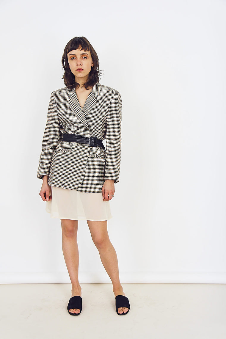 Vintage Hounds Tooth Wool Blazer
