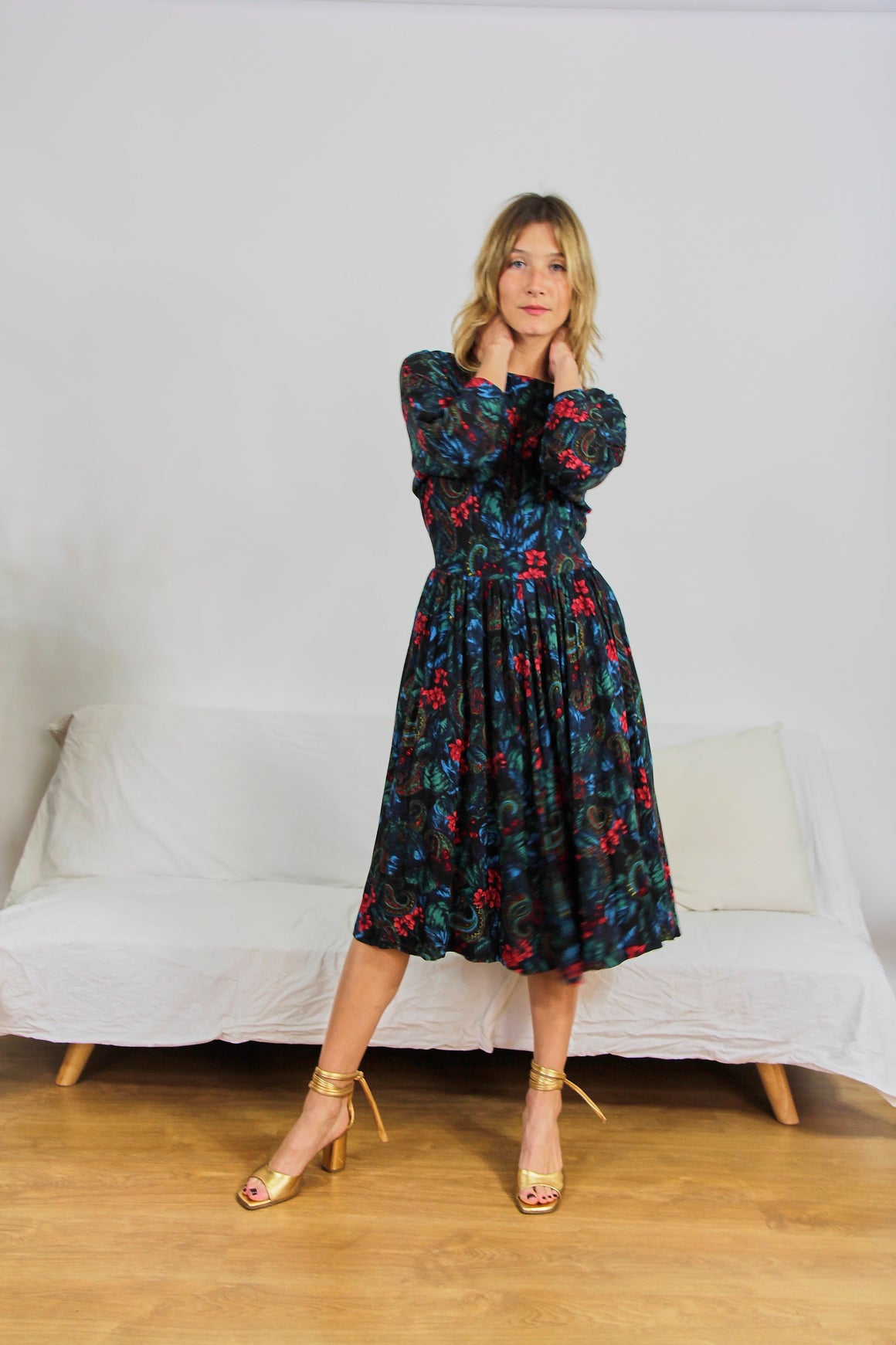 50s Style Floral Dress