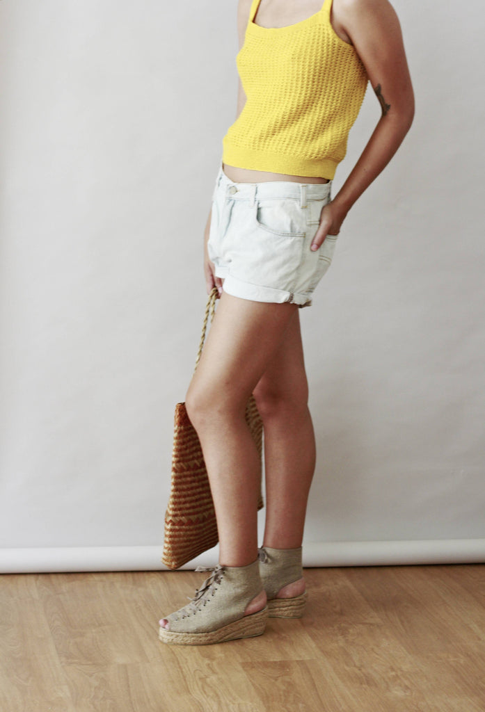 Vintage 90s Bleached Denim Shorts