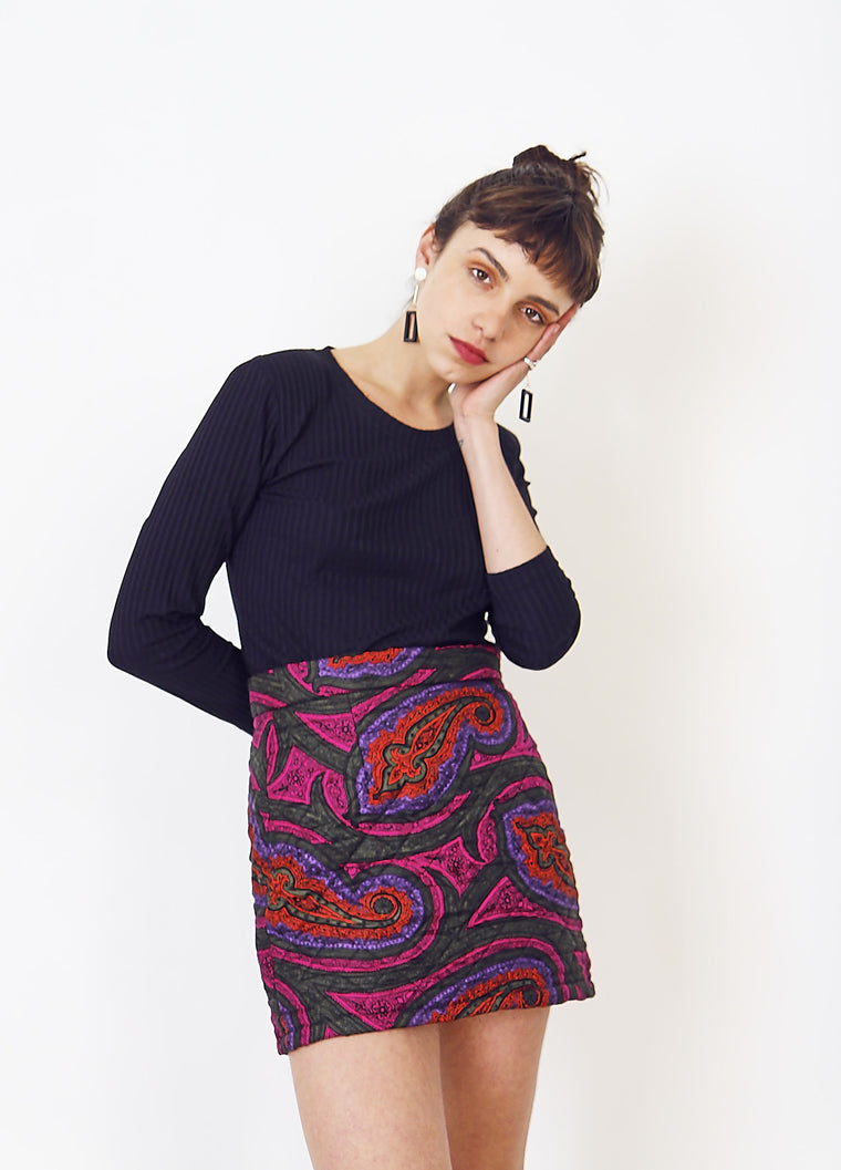 JW Anderson for Topshop Paisley Mini Skirt