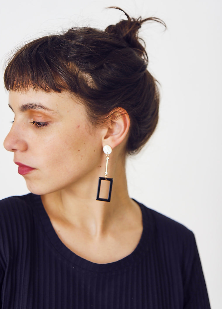 Perspex Geometric Pendant Earrings