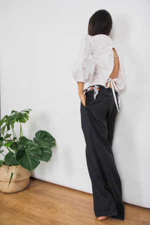 Tailored Navy Masculine Trousers