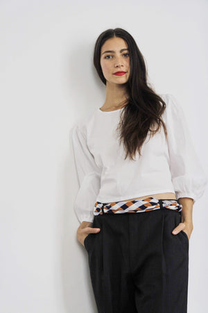White Circle Ring Cotton Top