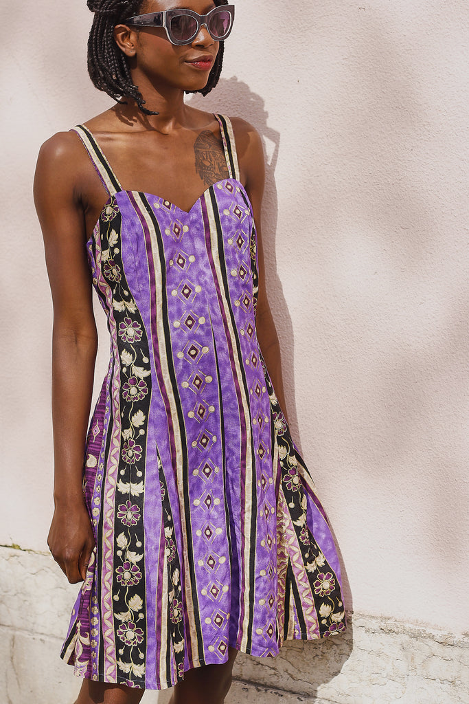 90s African Printed Playsuit