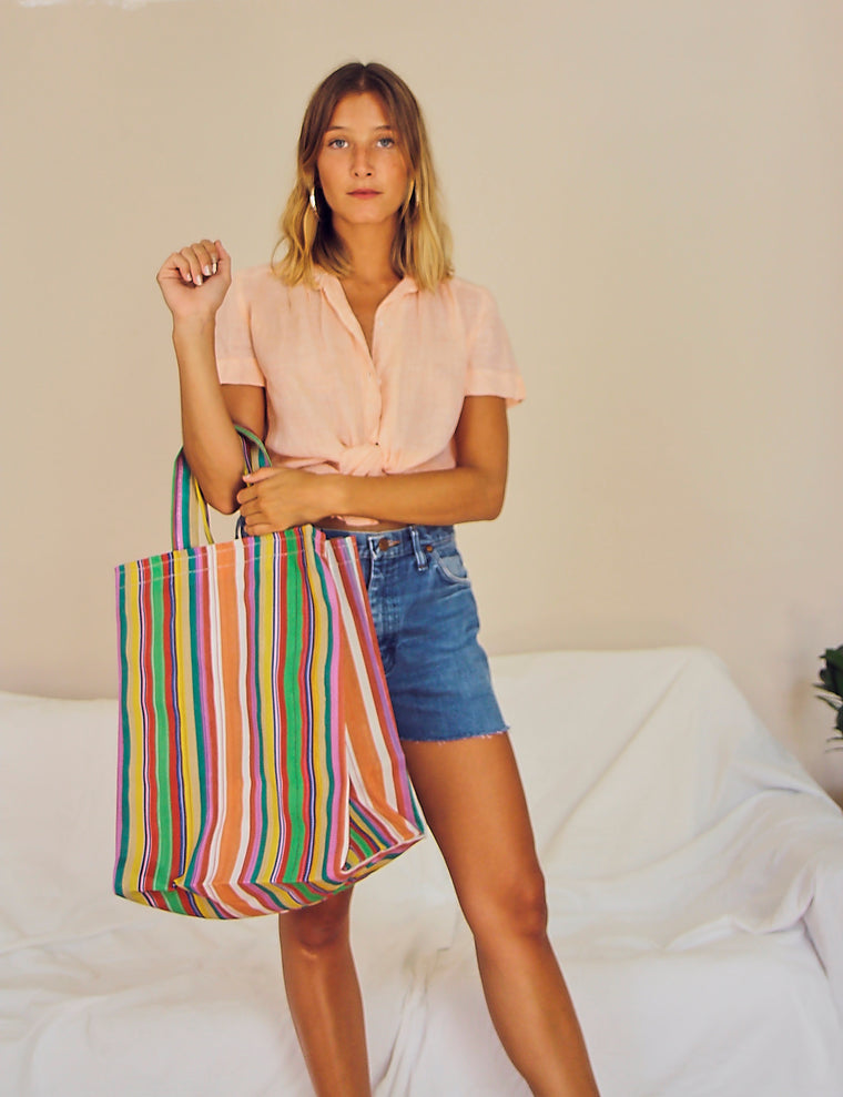 Candy Striped Every-Day Bag